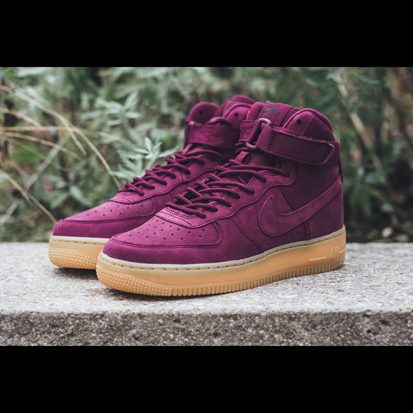 Nike Shoes | Purple Suede Air Forces